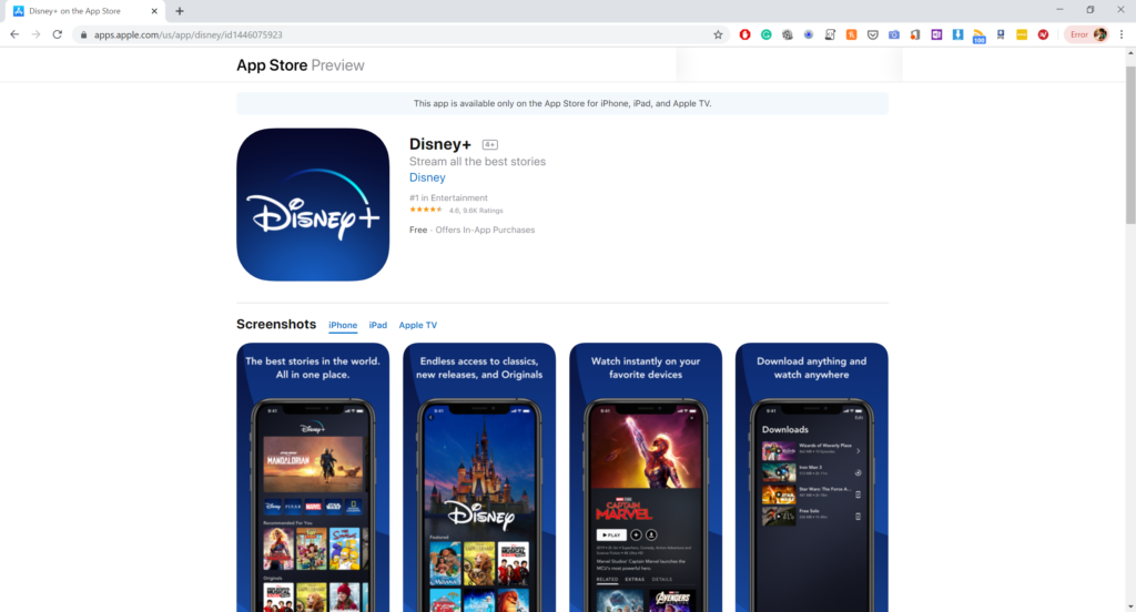 Download Disney Plus App