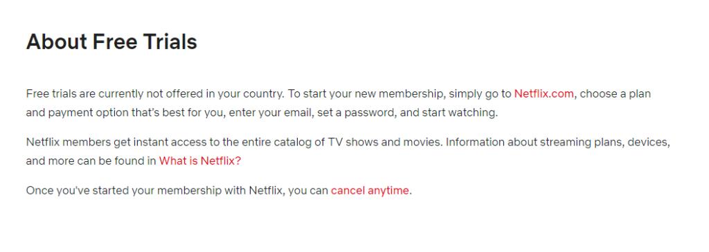Netflix Australia Free Trial