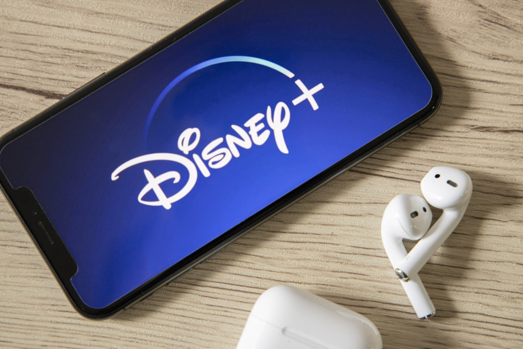 Disney Plus running on a smartphone