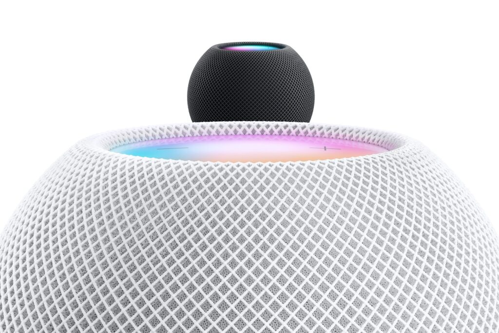Apple HomePod Mini Colours: Space Gray and White