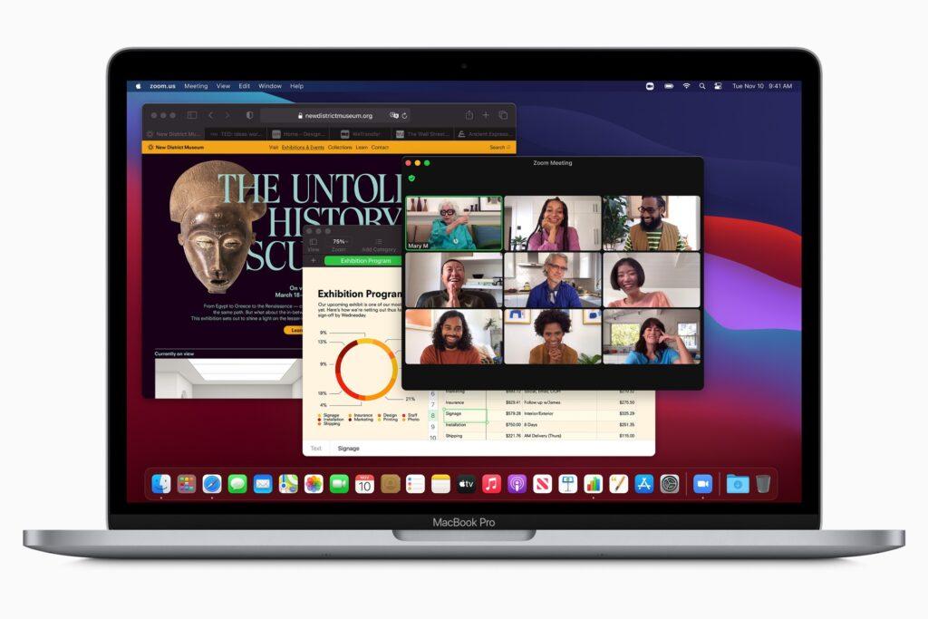Apple's new MacBook Pro running Big Sur