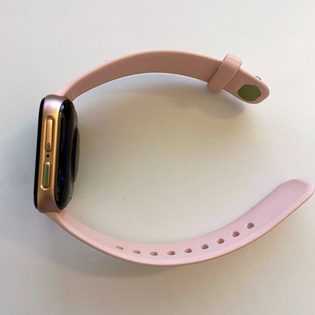 pink gold OPPO Watch right side view