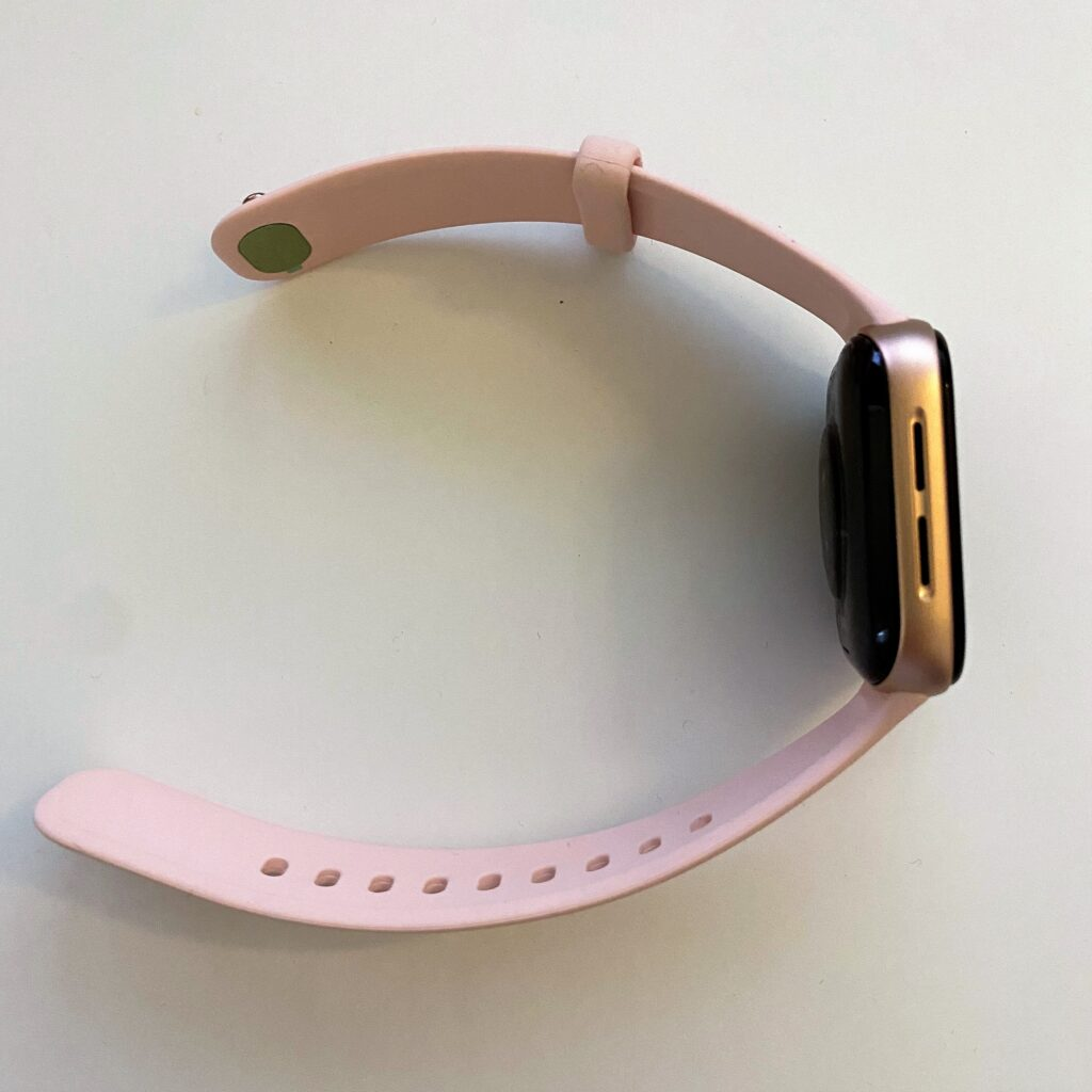 pink gold OPPO Watch left side view