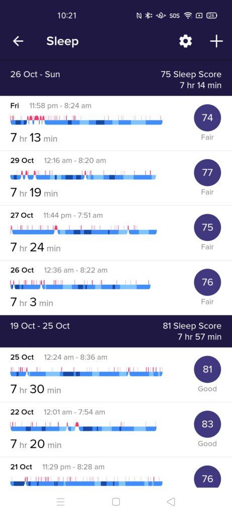 Fitbit Versa 3 sleep tracking