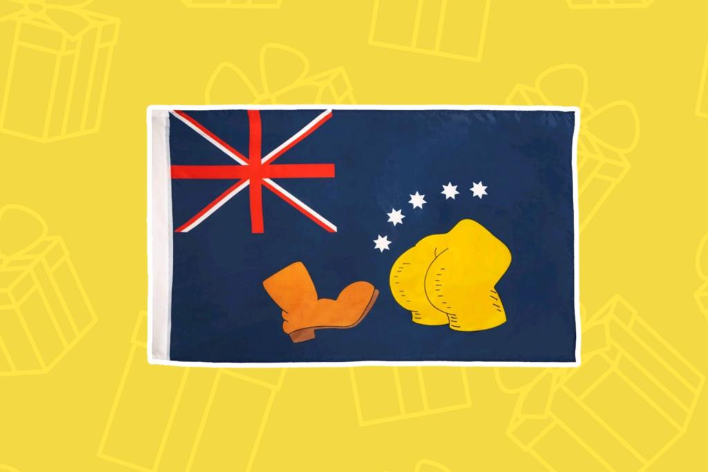 Simpsons bart vs. Australia boot flag - kris kringle gift ideas