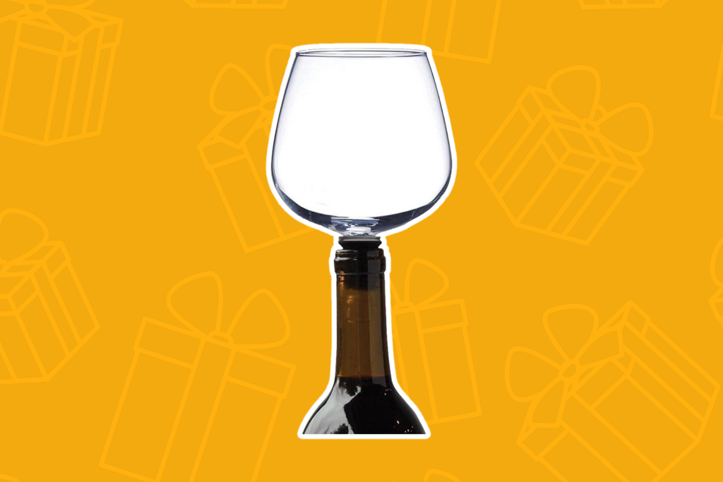 guzzle buddy wine glass - kris kringle gift ideas