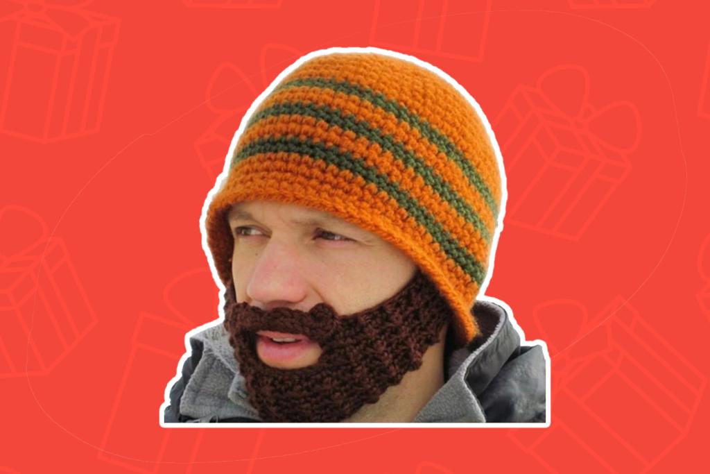 knitted beard beanie - kris kringle gift ideas