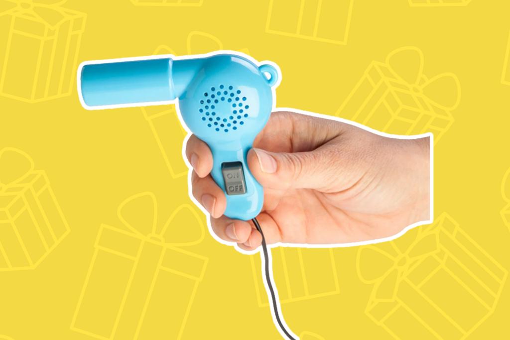 world's smallest hair dryer - kris kringle gift ideas