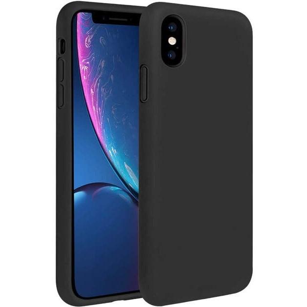 Black silicone iPhone X case