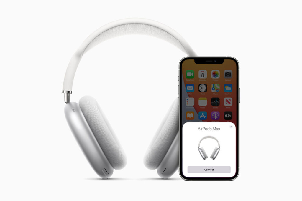 Apple AirPods Pro Max and iPhone 12