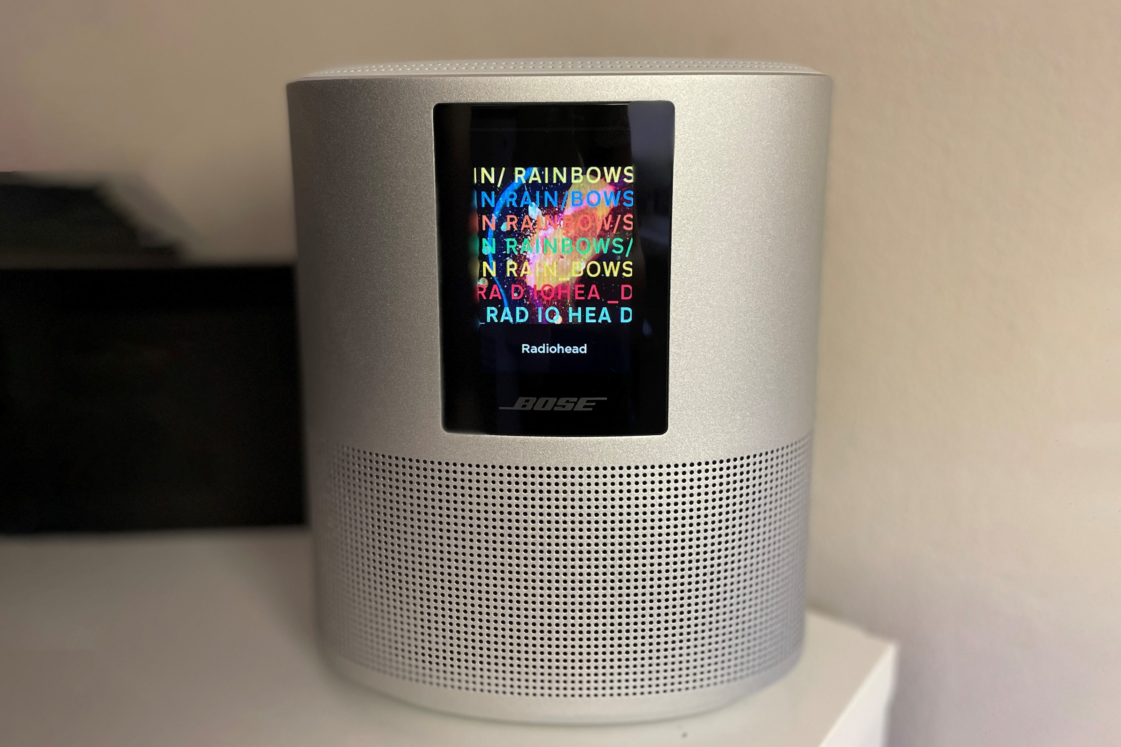 Bose Home 500 smart speaker against a white wall