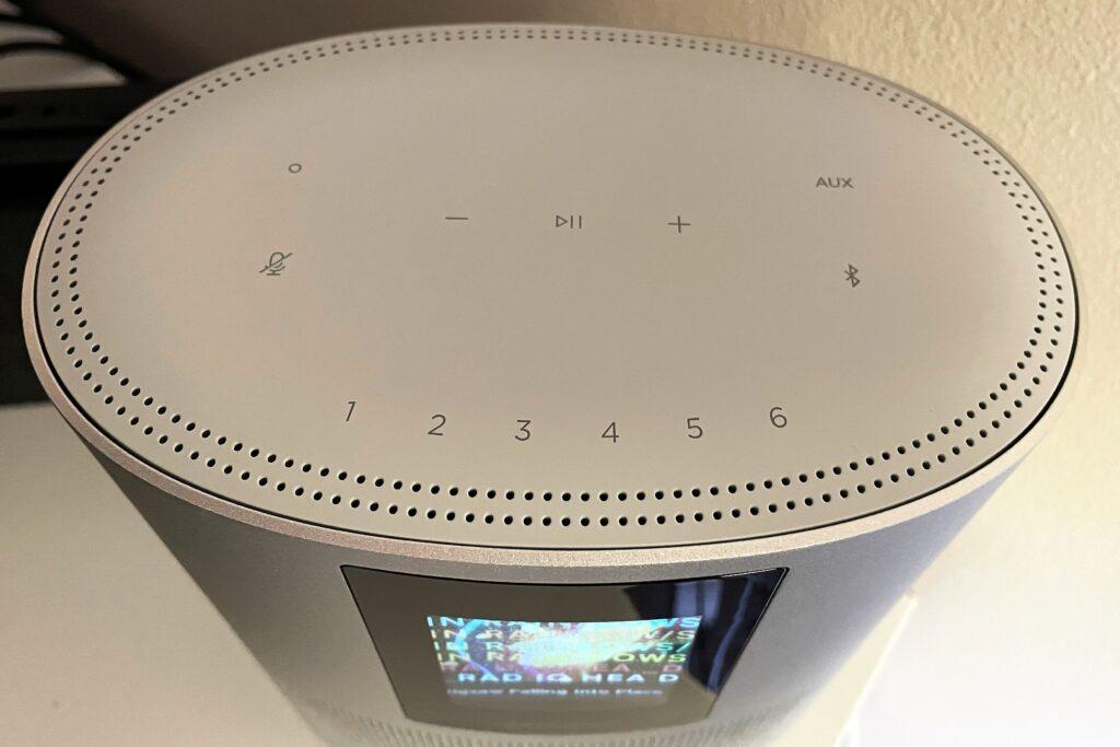 Bose Home 500 smart speaker top view